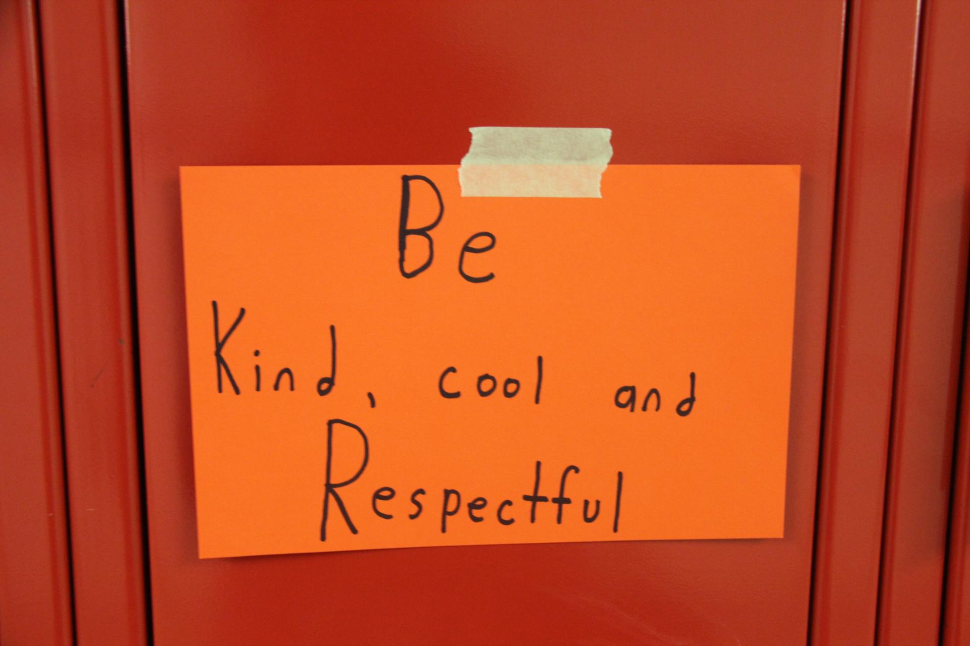 Be kind, cool and respectful