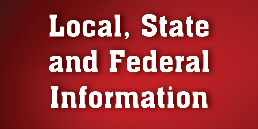 Local, State and Federal Information