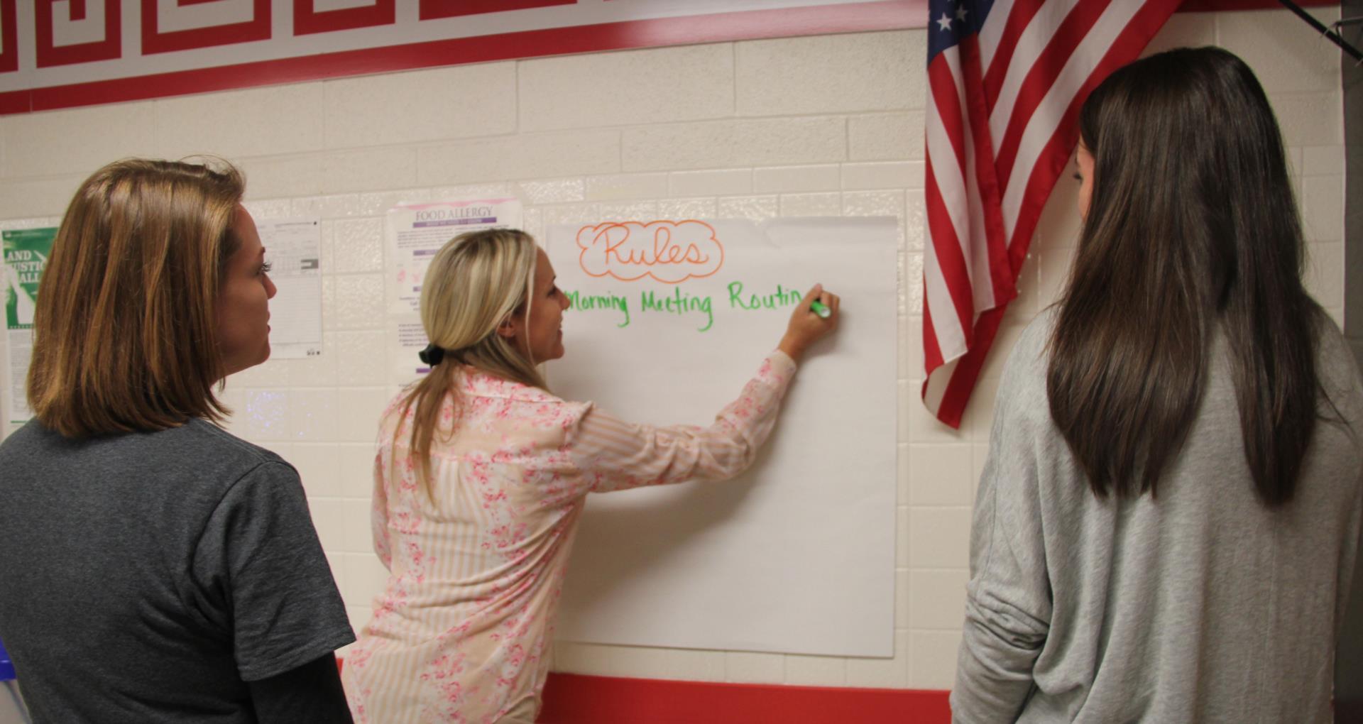 teachers reflecting on classroom management