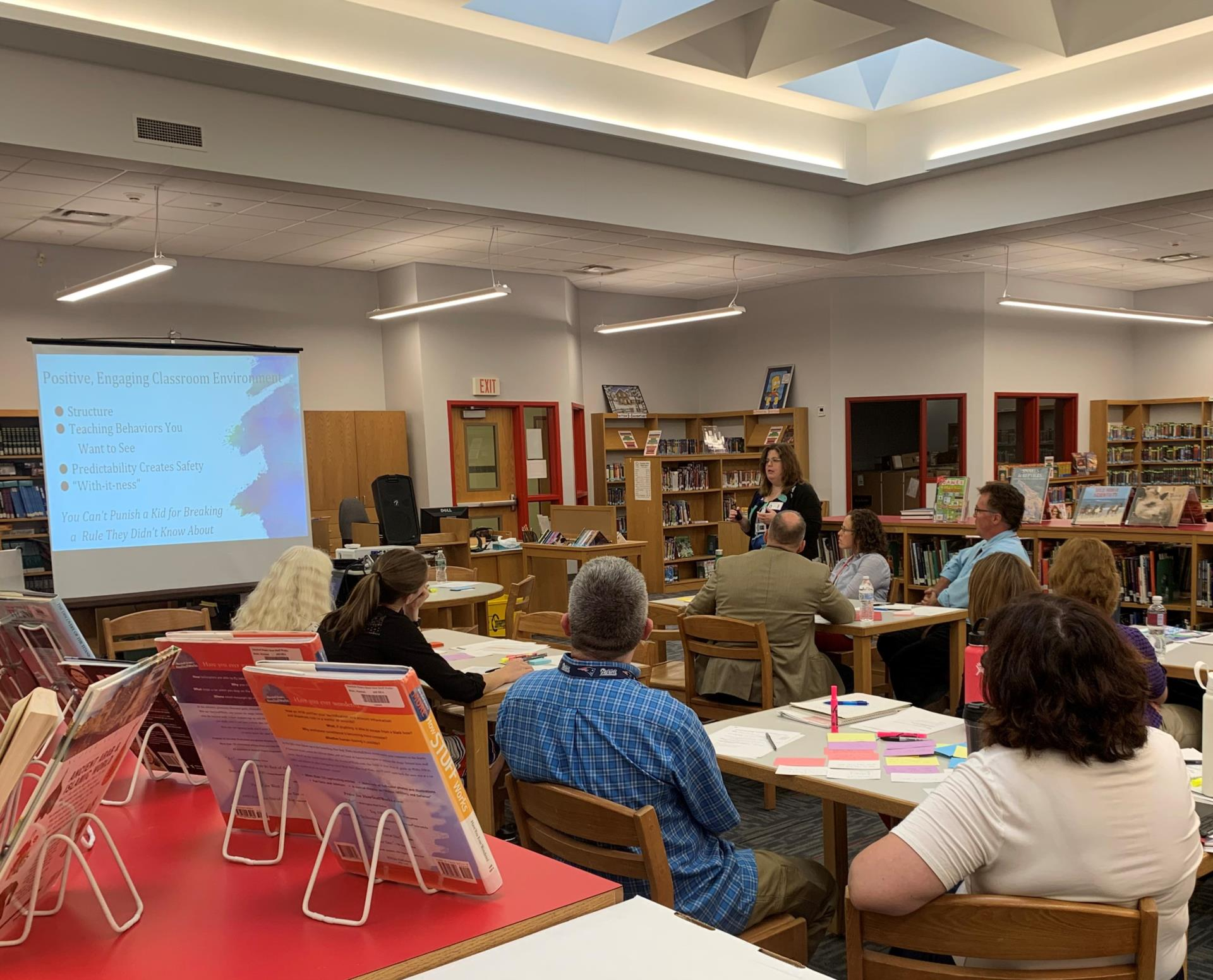 teachers taking part in professional development