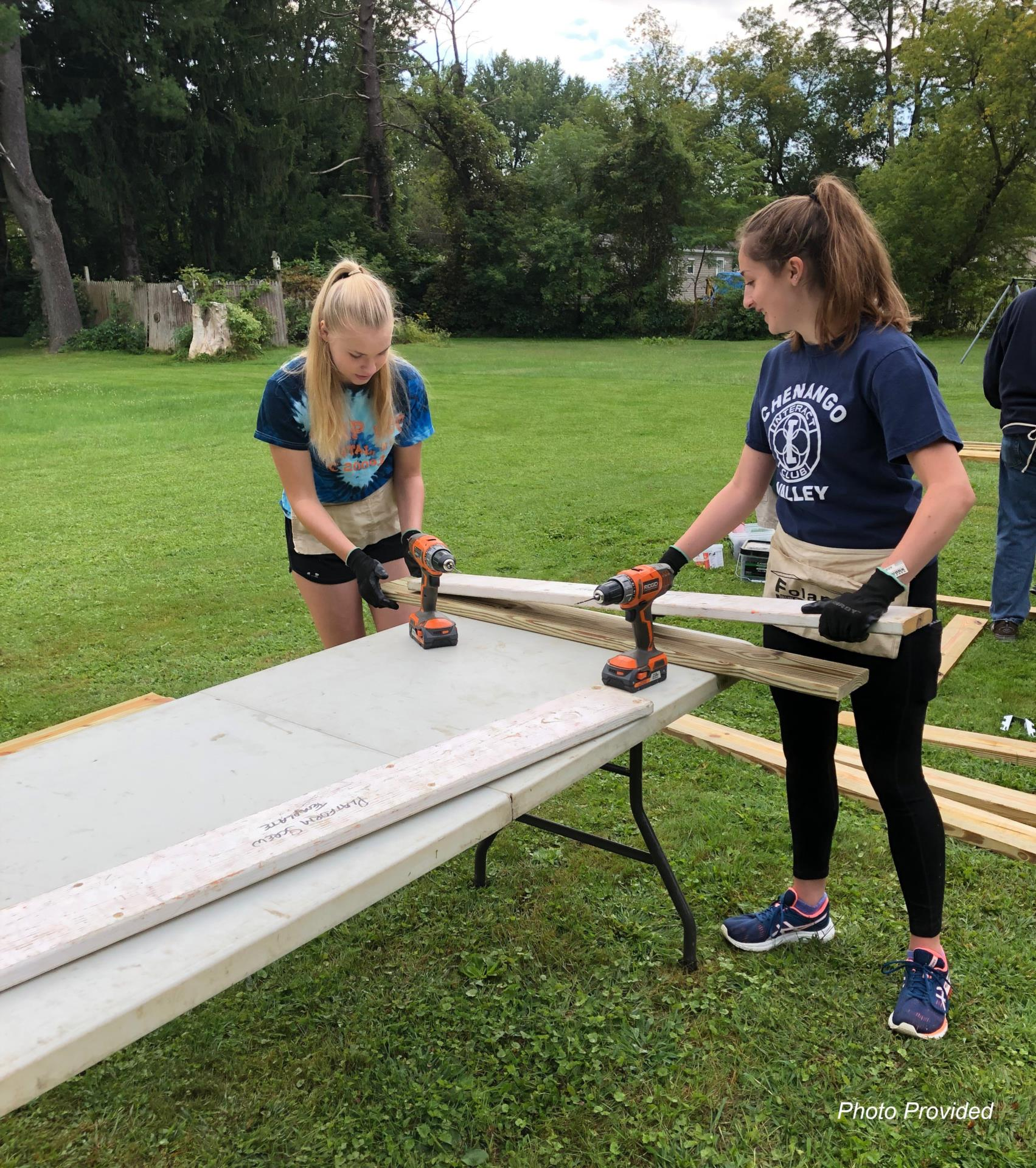 students working with equipment