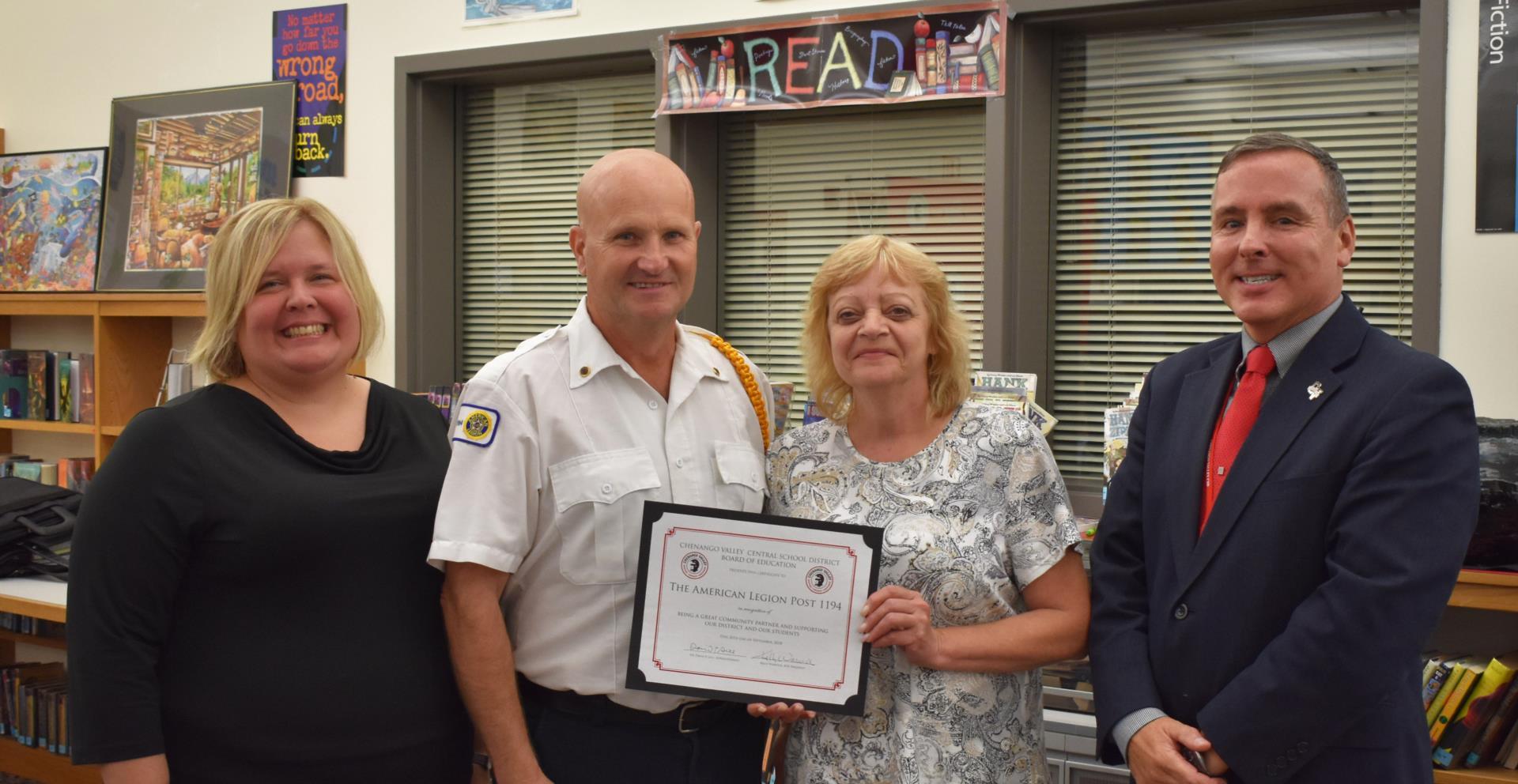 American Legion Post 1194 recognized