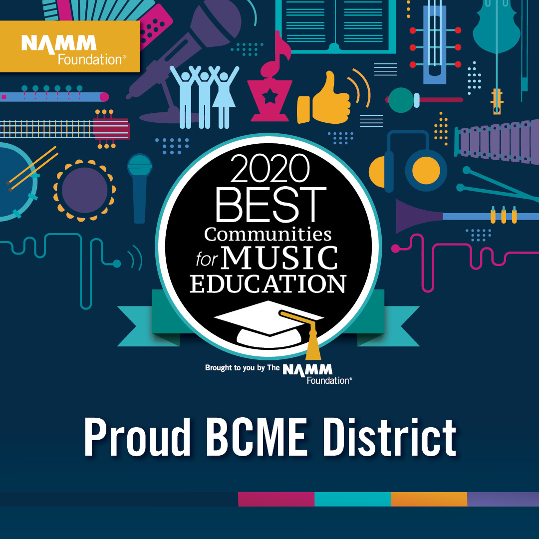 namm foundation best communities for music education 2020 graphic