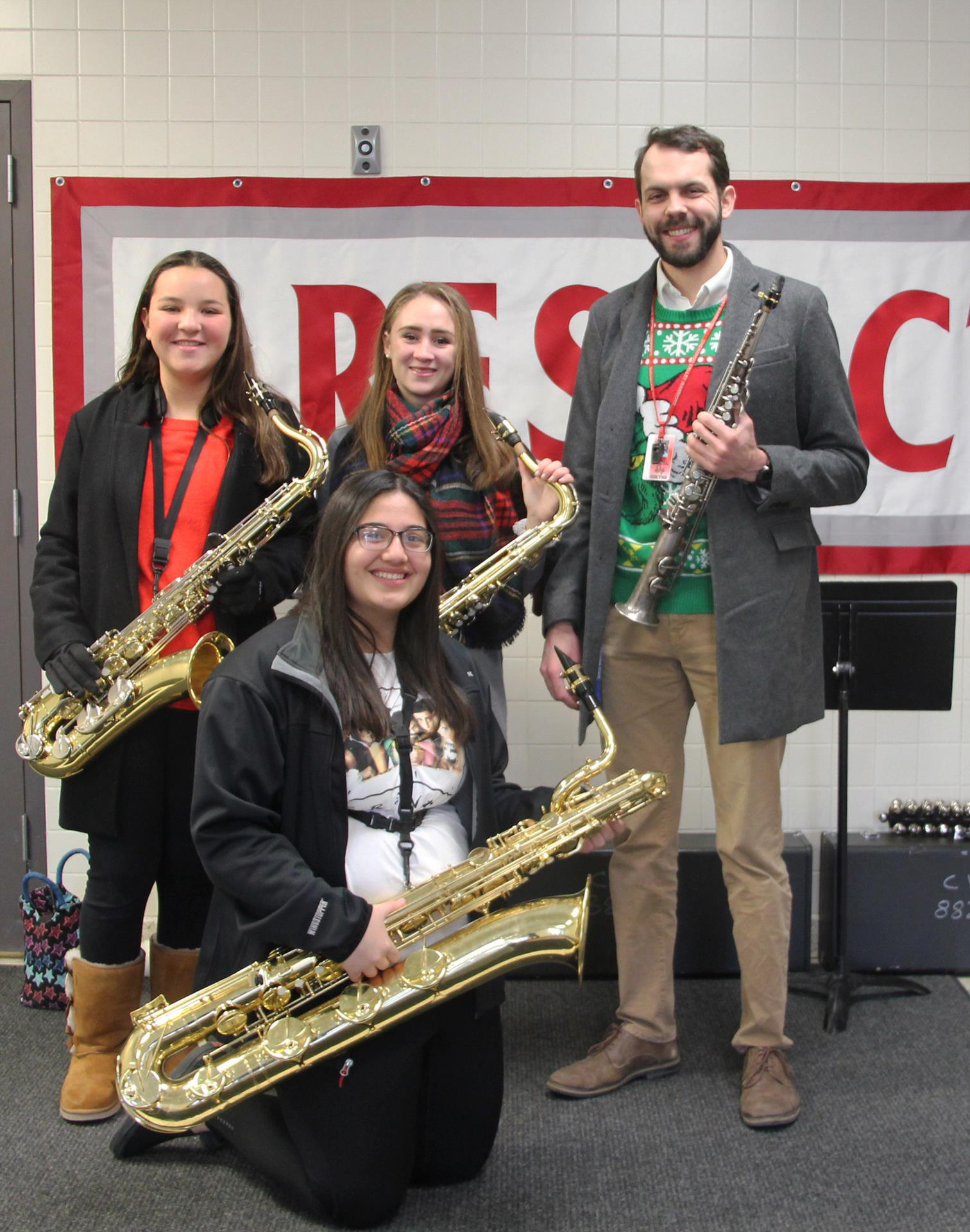 members of saxophone ensemble and mister hammill