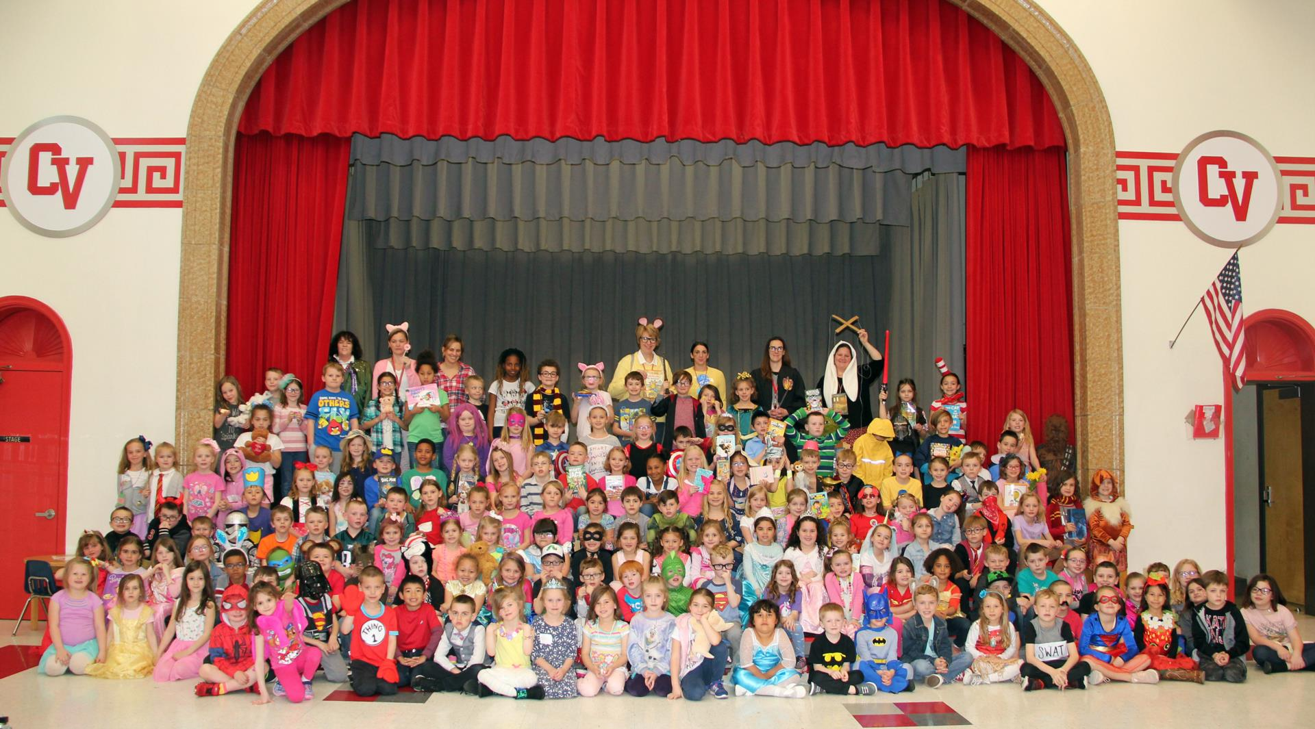 port dickinson students and staff dressed like book characters