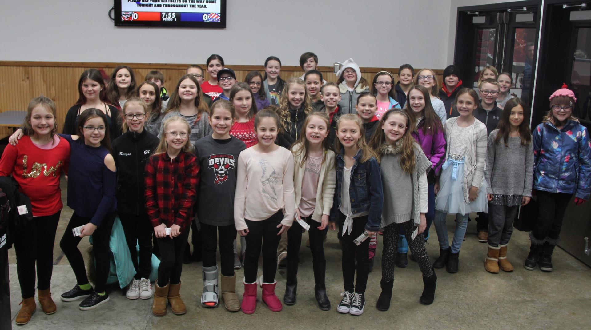 fourth and fifth grade chorus students