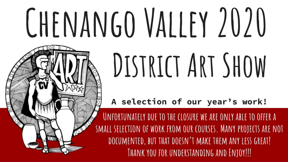 Chenango Valley 2020 District Art Show Graphic
