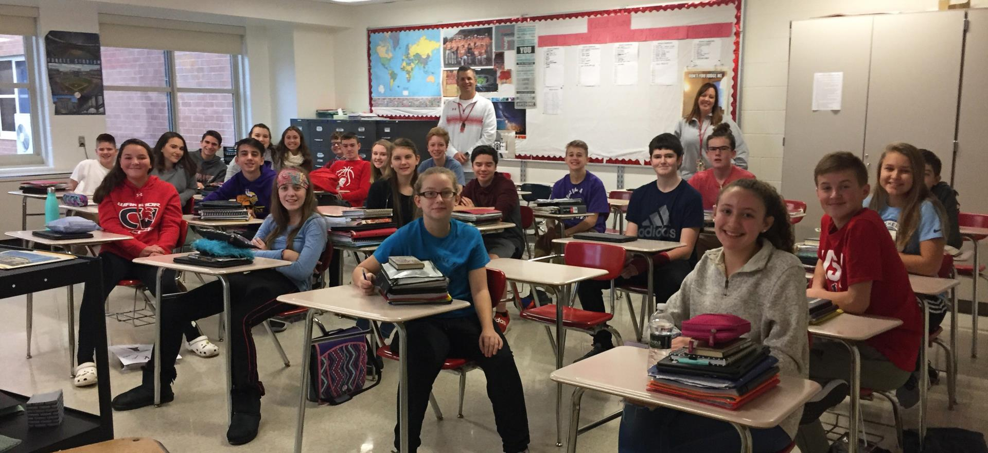 students sitting in classroom