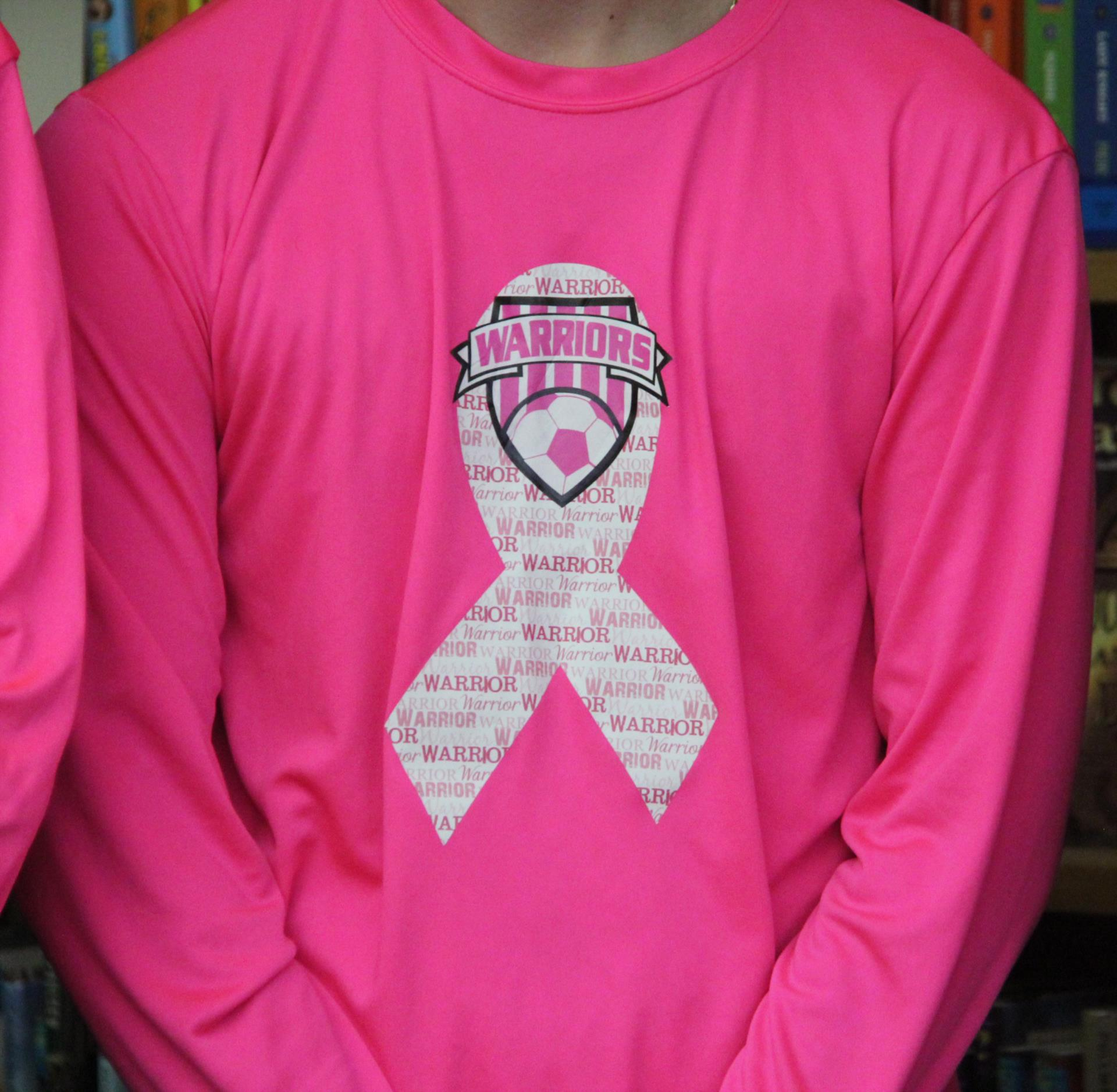 pink jersey up close