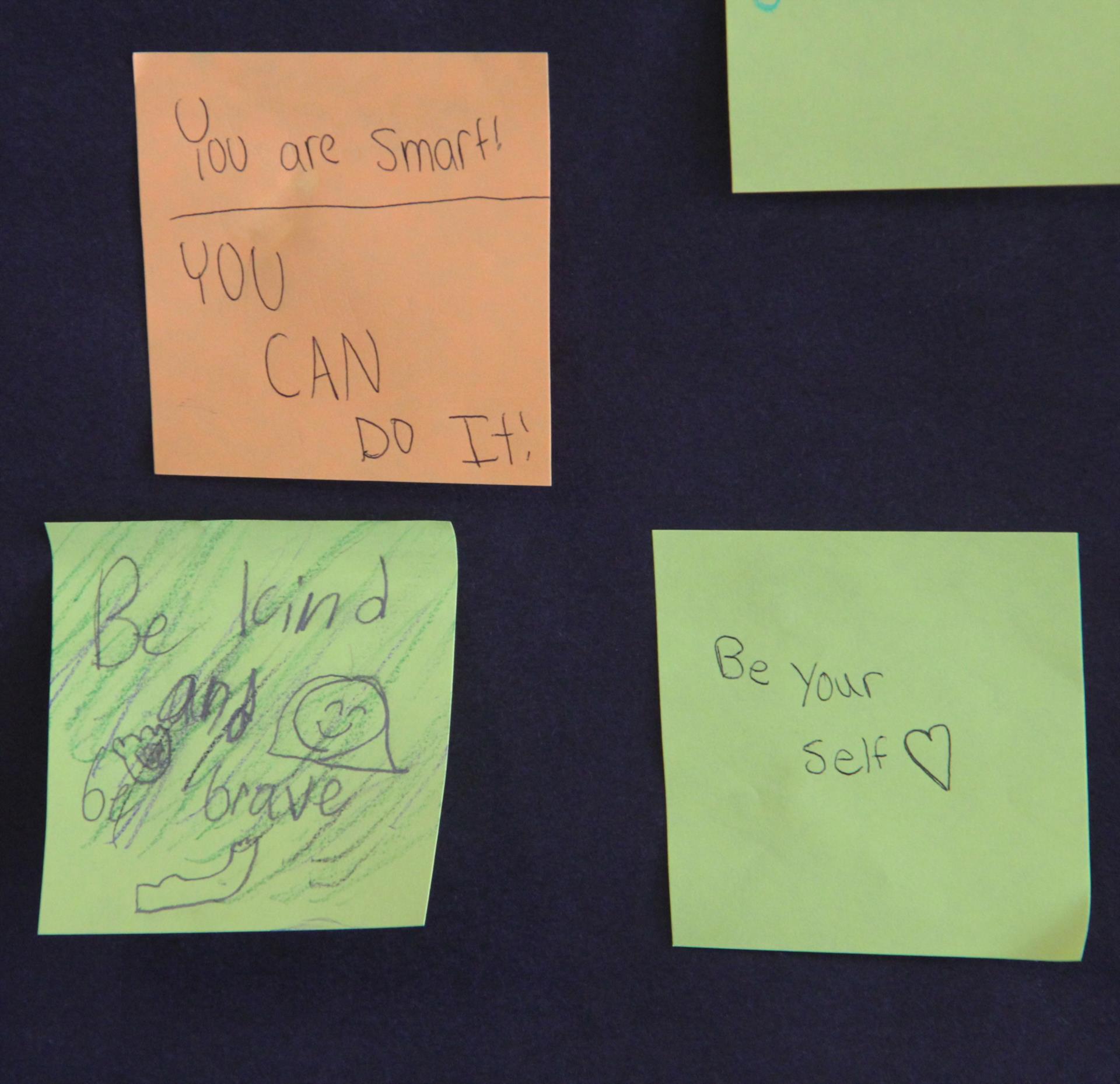 inspiring messages on positivity wall