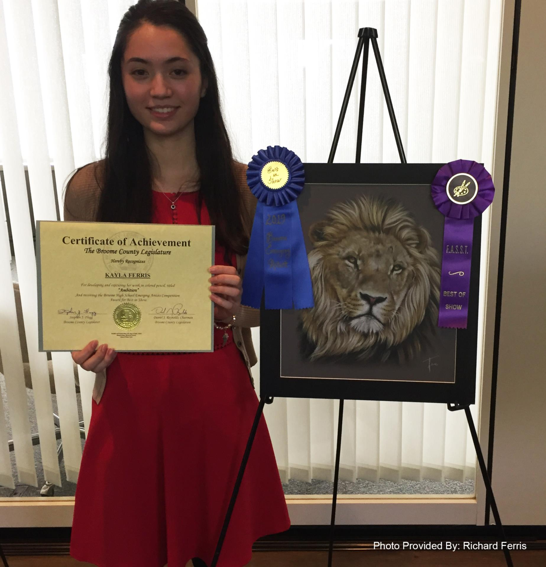 kayla ferris recognized by Broome County Legislature