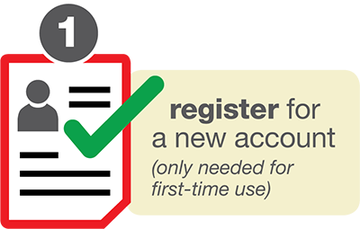 Register for a new account.