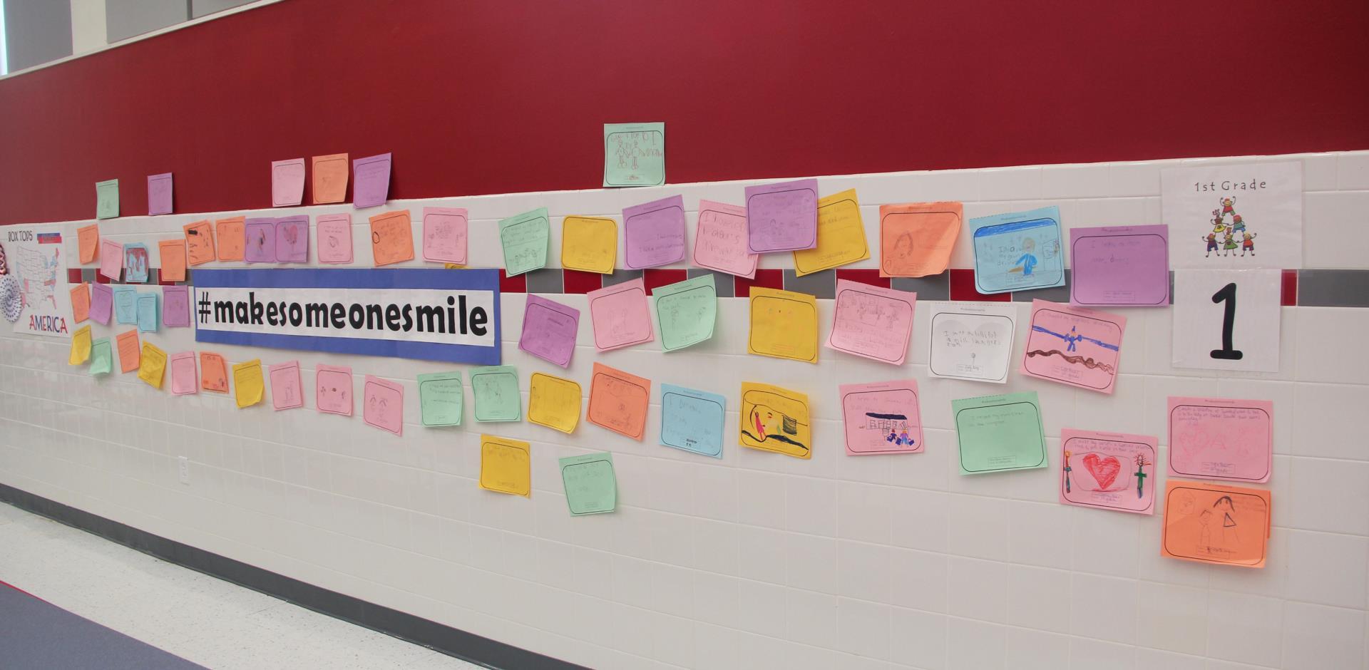 make someone smile wall