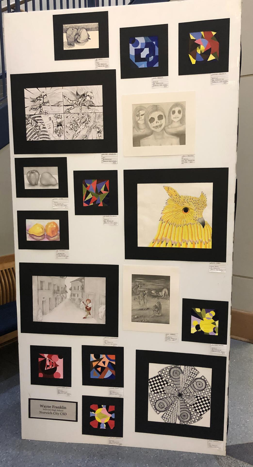 student artwork on display 1 of 3