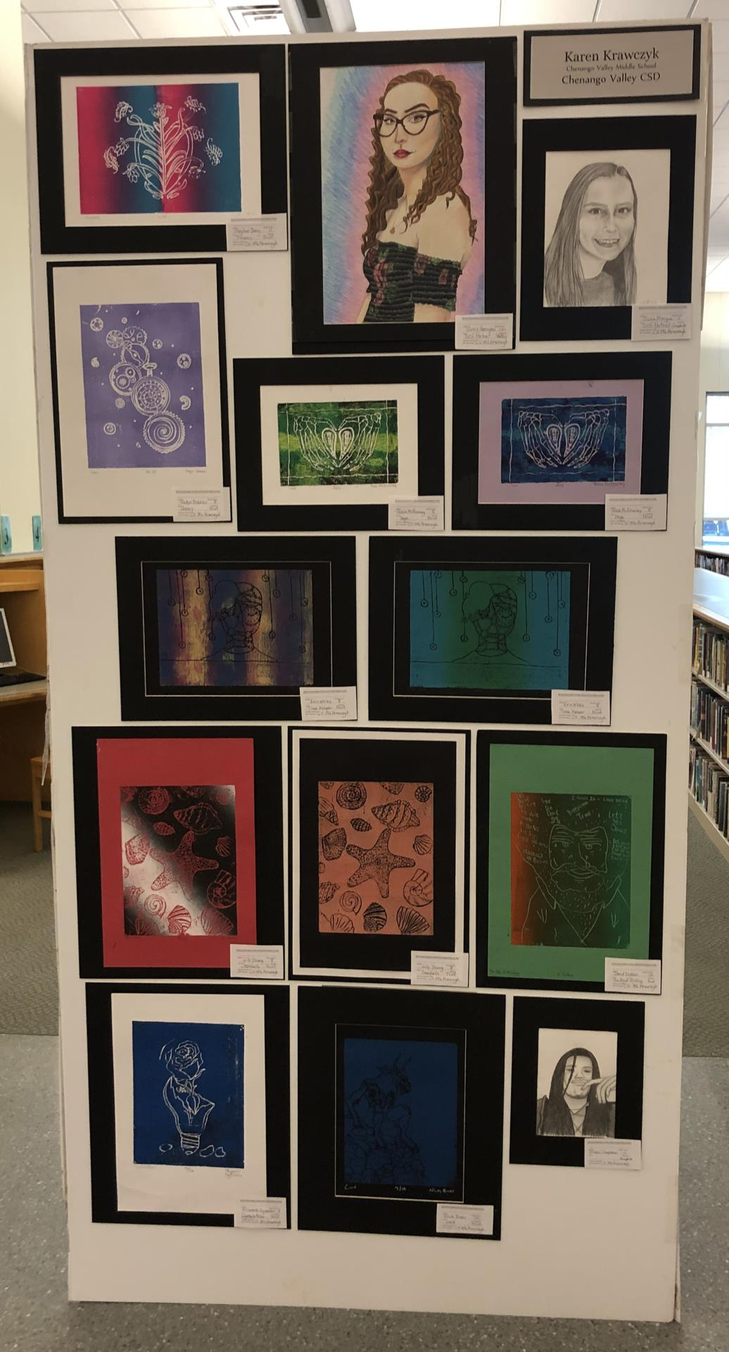 student artwork on display 2 of 3
