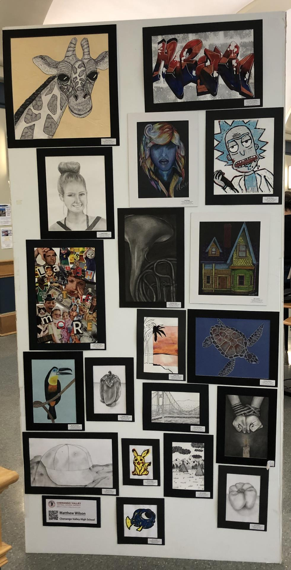 student artwork on display 3 of 3