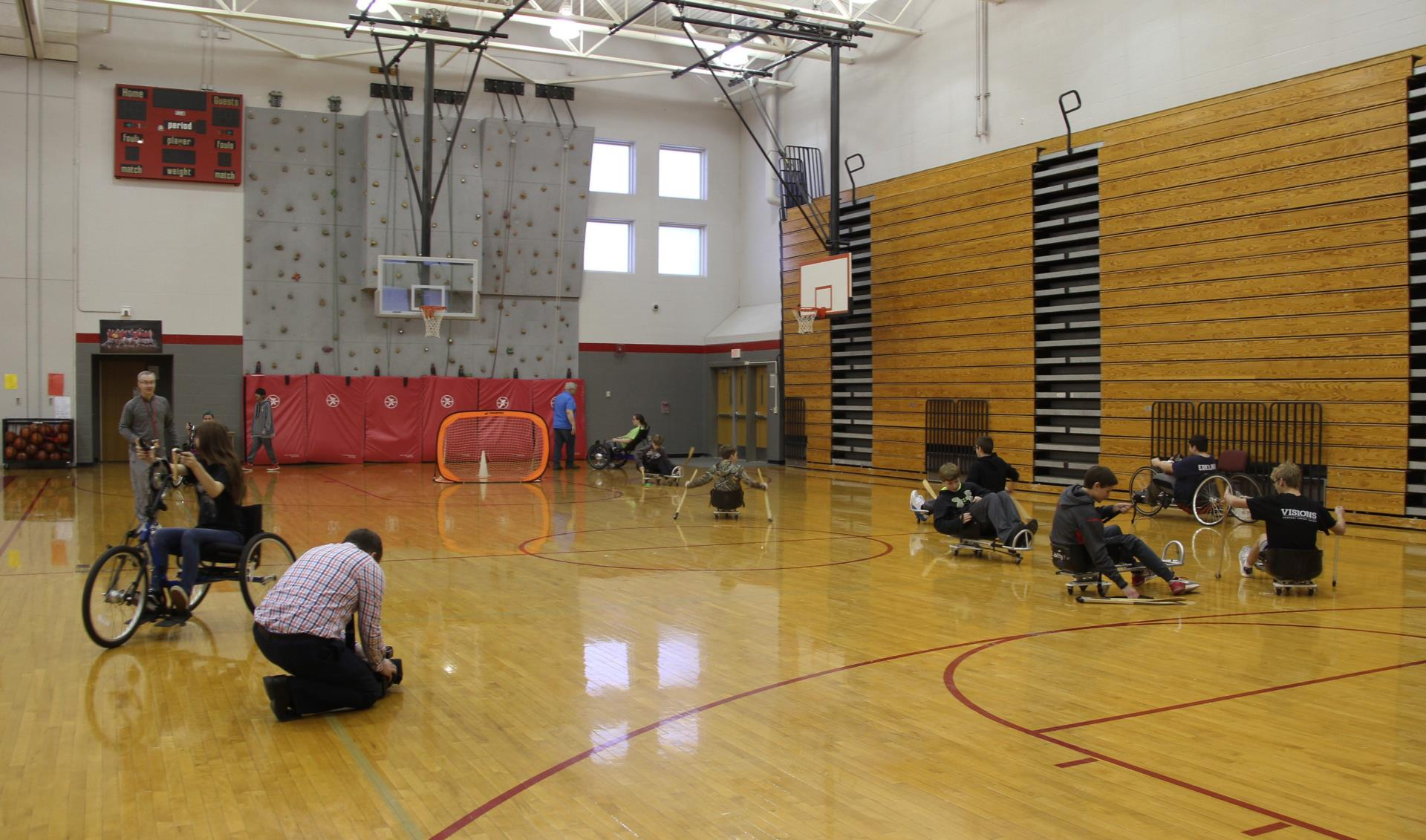 students taking part in adaptive sports