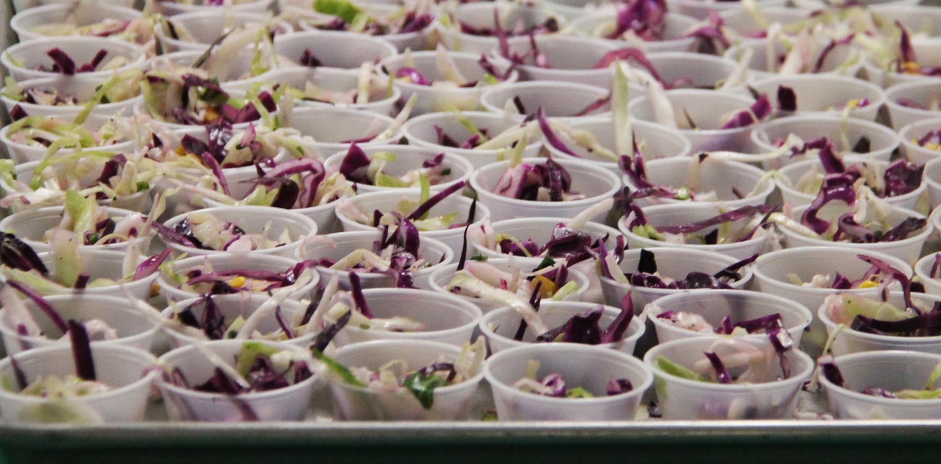 up close of cabbage corn salad