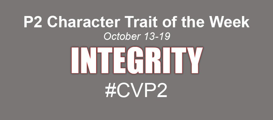 Trait of the week - integrity