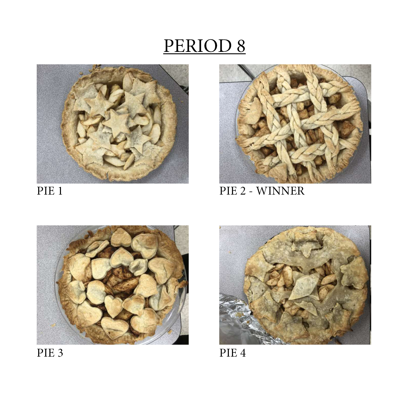 Period 8 Pies
