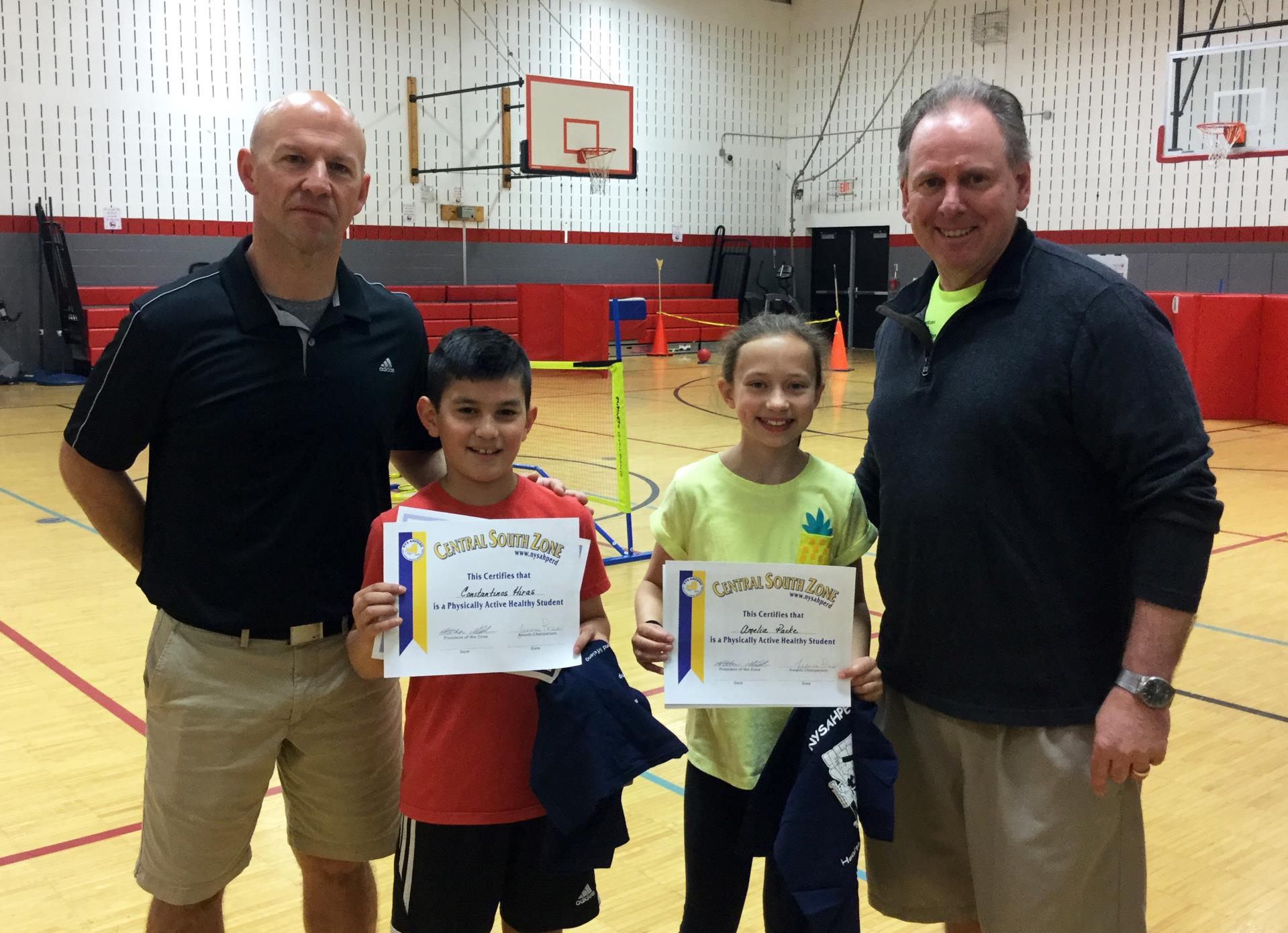 students with physical education teachers