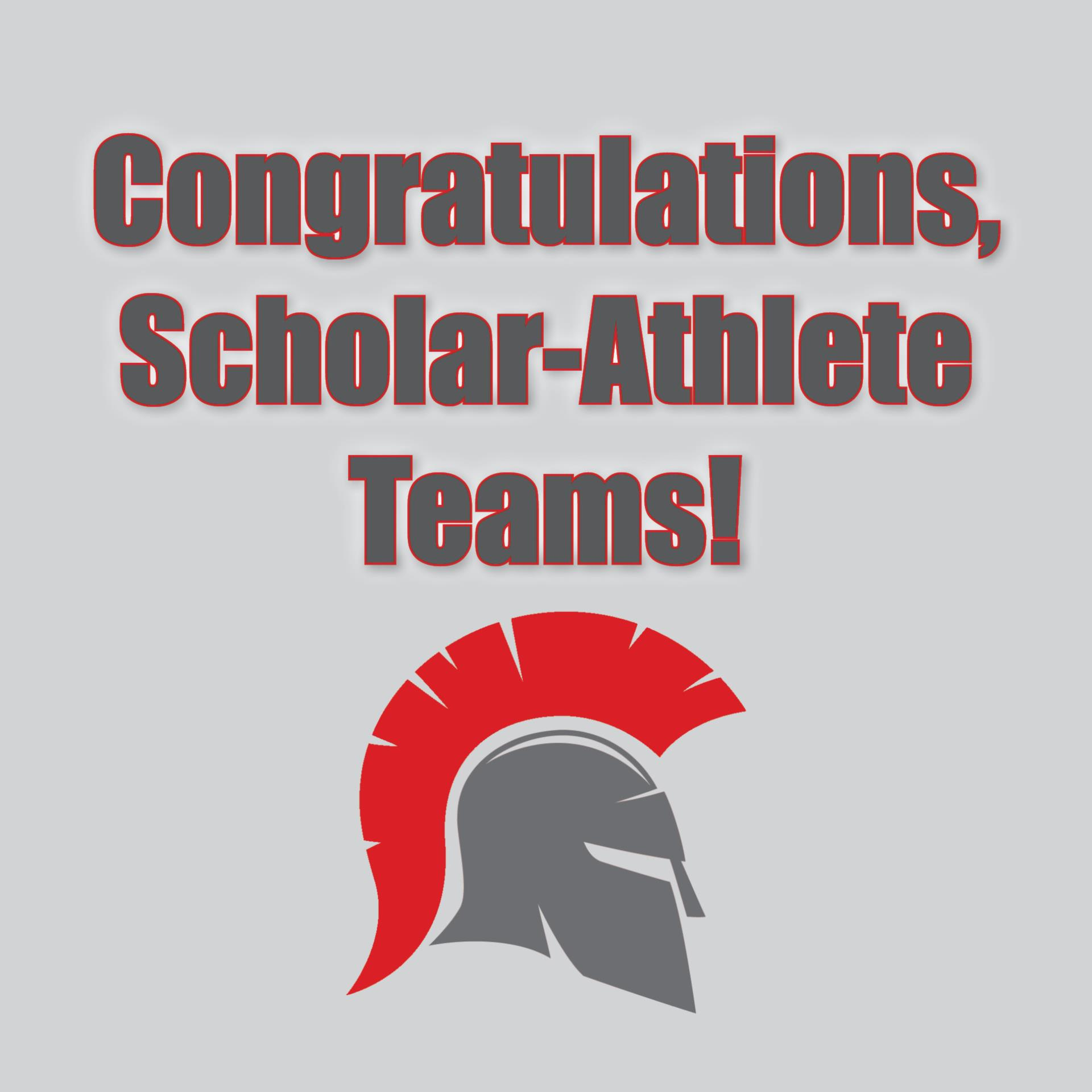 congratulations, scholar-athlete teams!