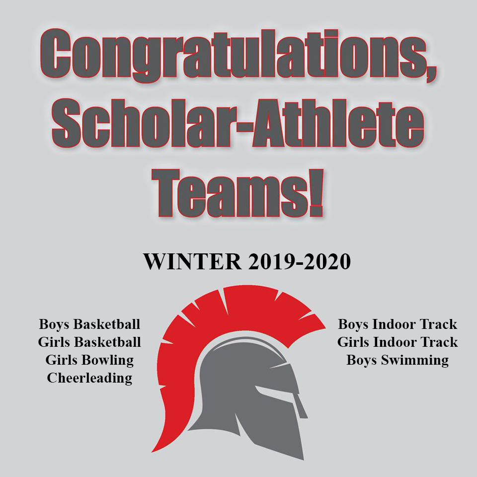 Scholar-Athlete Teams Winter 2019-2020 Graphic