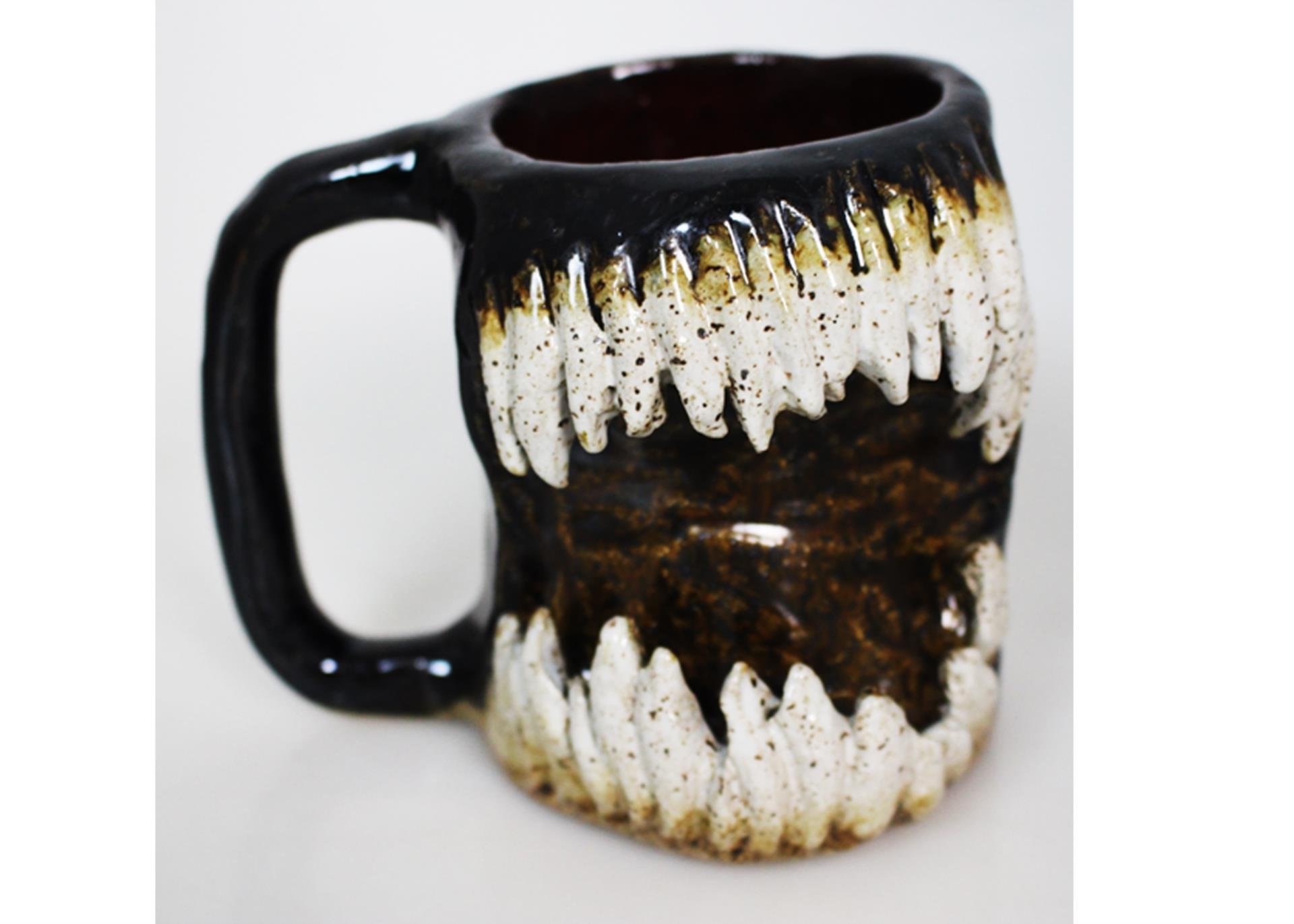 mug with teeth