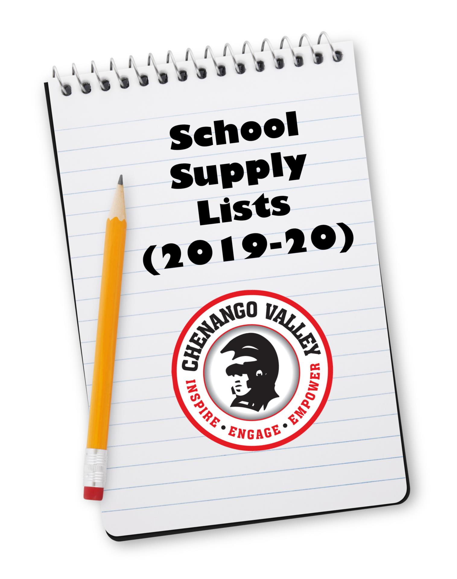 school supply lists 2019-20