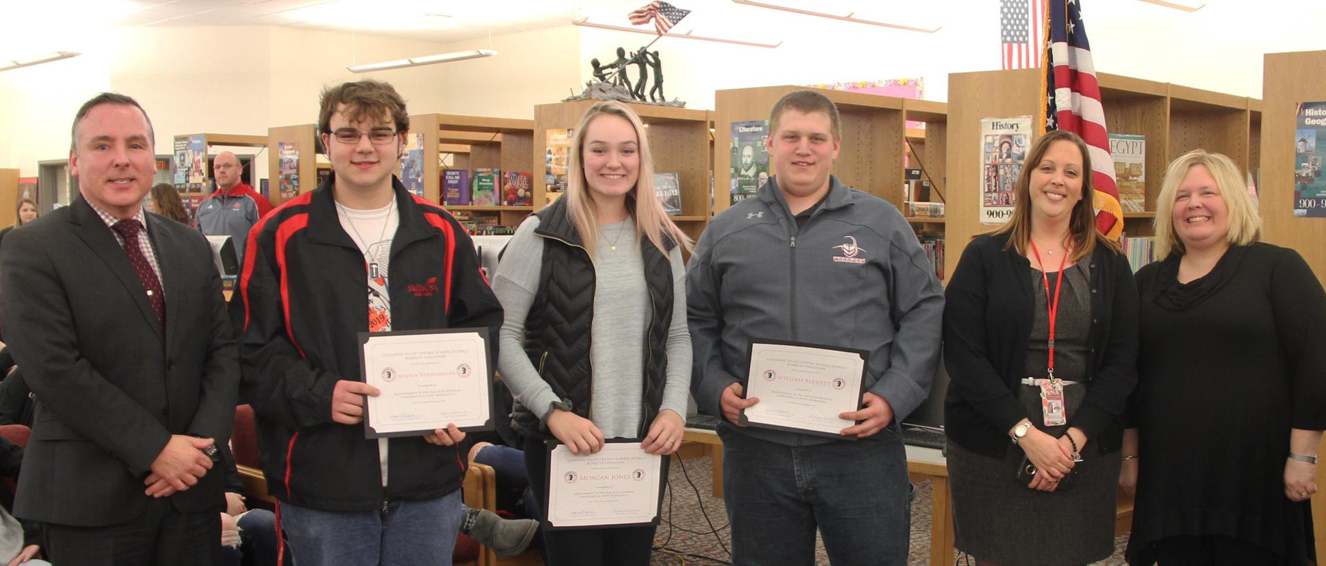 skills u s a students recognized at board meeting