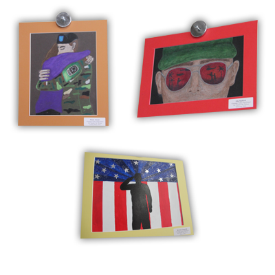 artwork pieces from veterans ceremony 3
