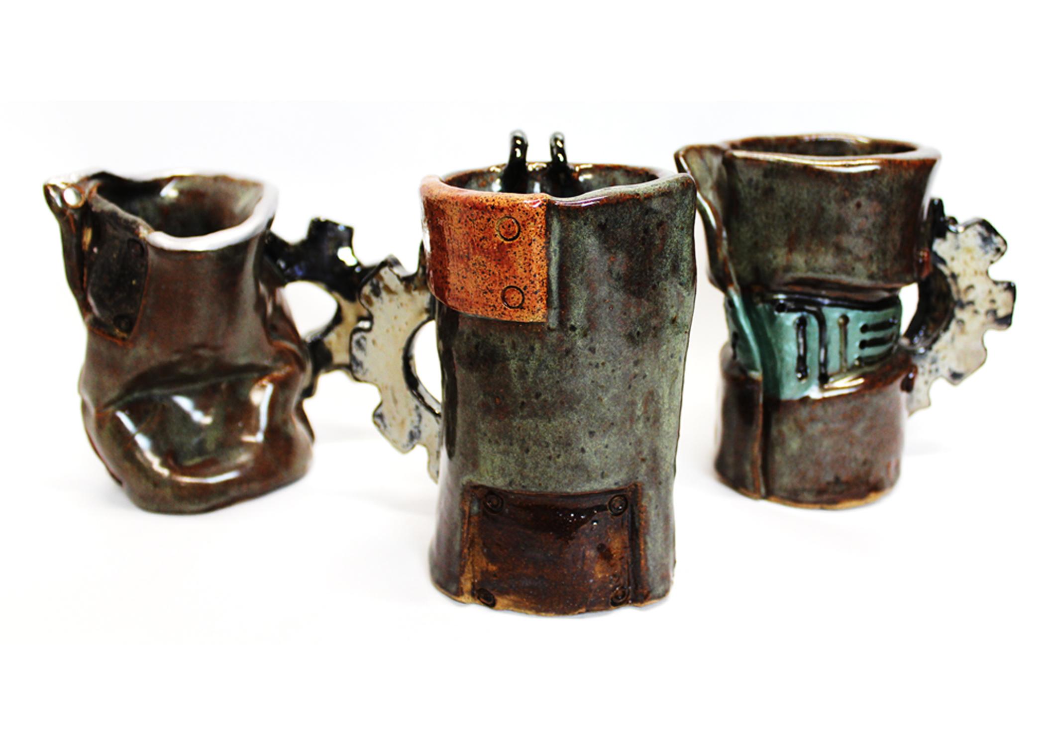 mugs of steam ceramic piece