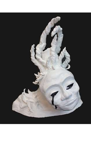 "Sculpture titled ""ALONE"""