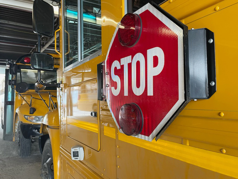 stop arm camera on school bus
