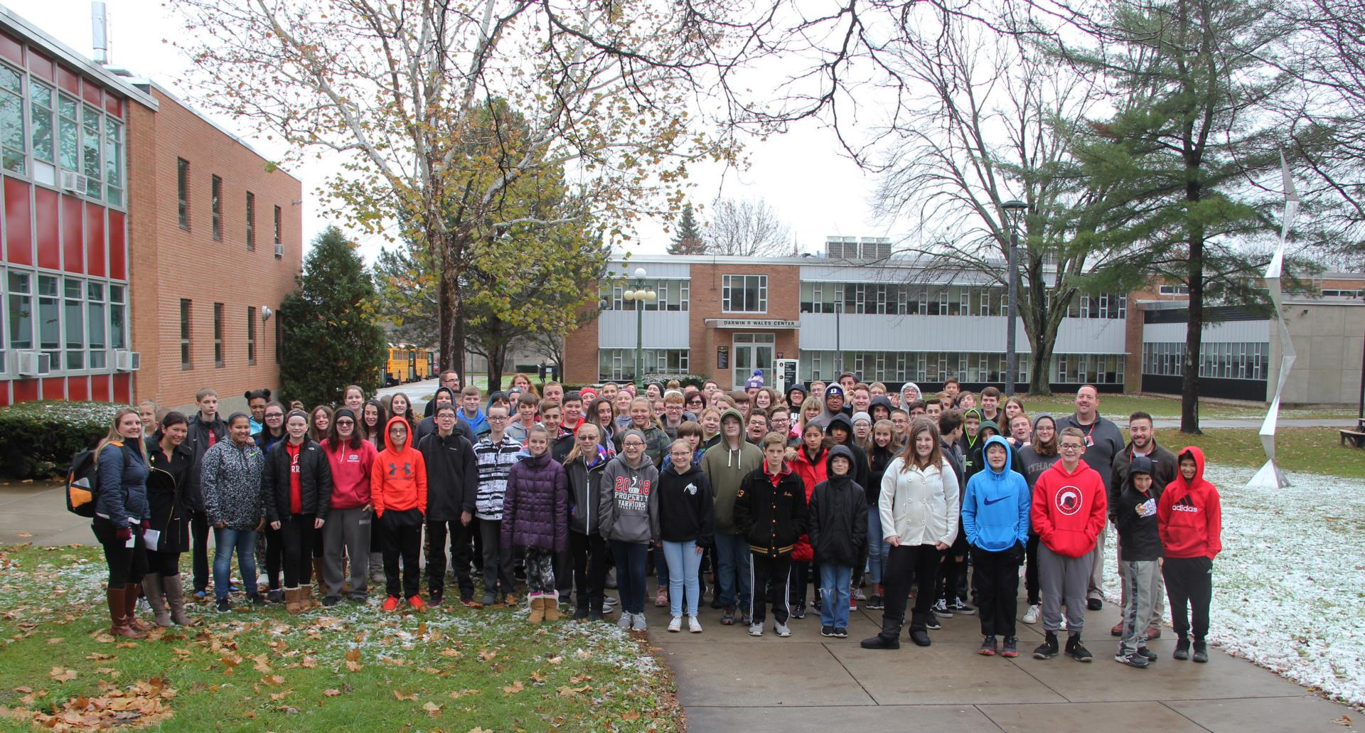 eighth grade students on suny broome campus