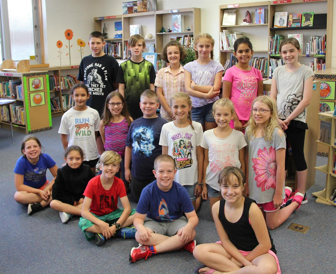 fifth grade students who participated in chenango bridge summer reading bingo challenge