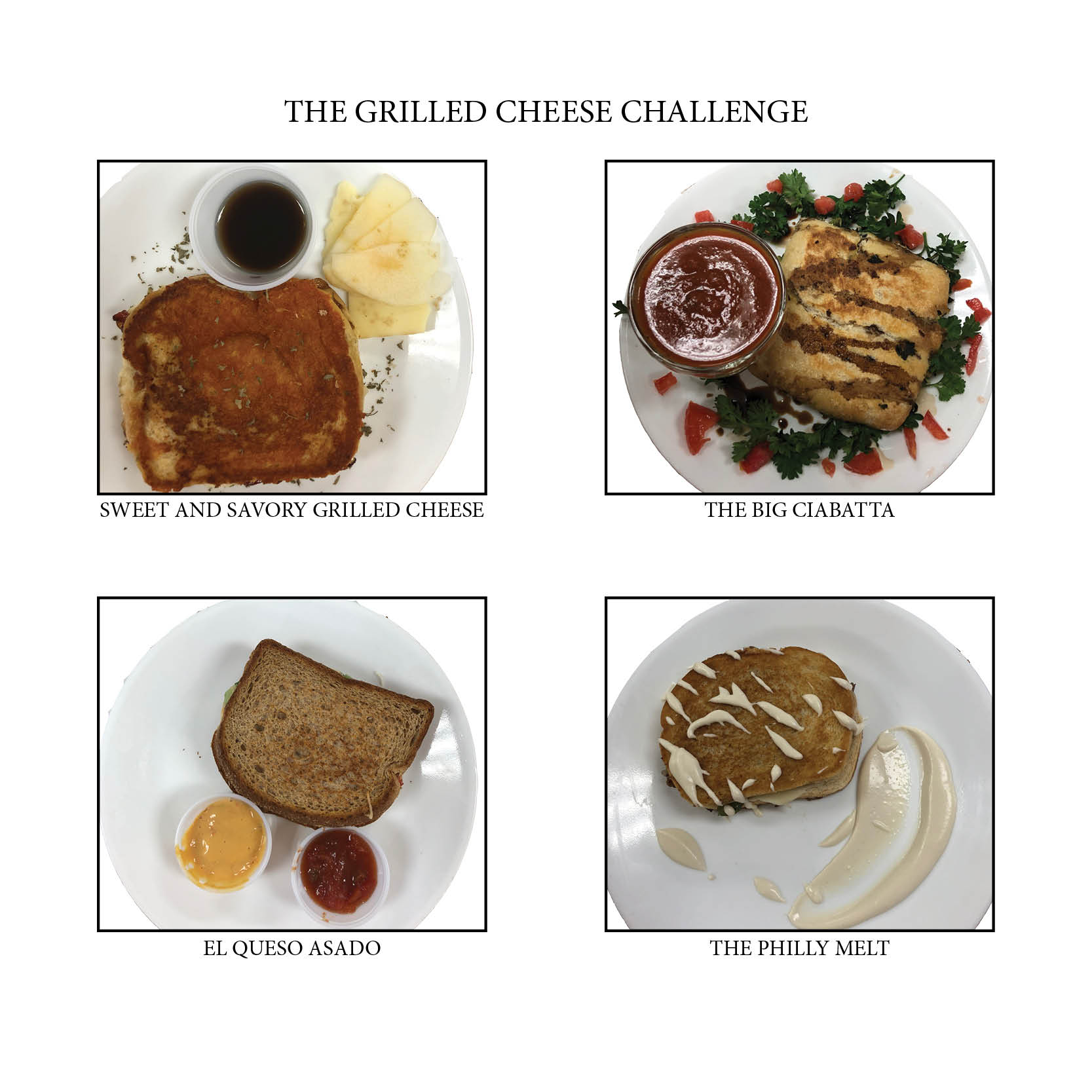 grilled cheese challenge sandwiches