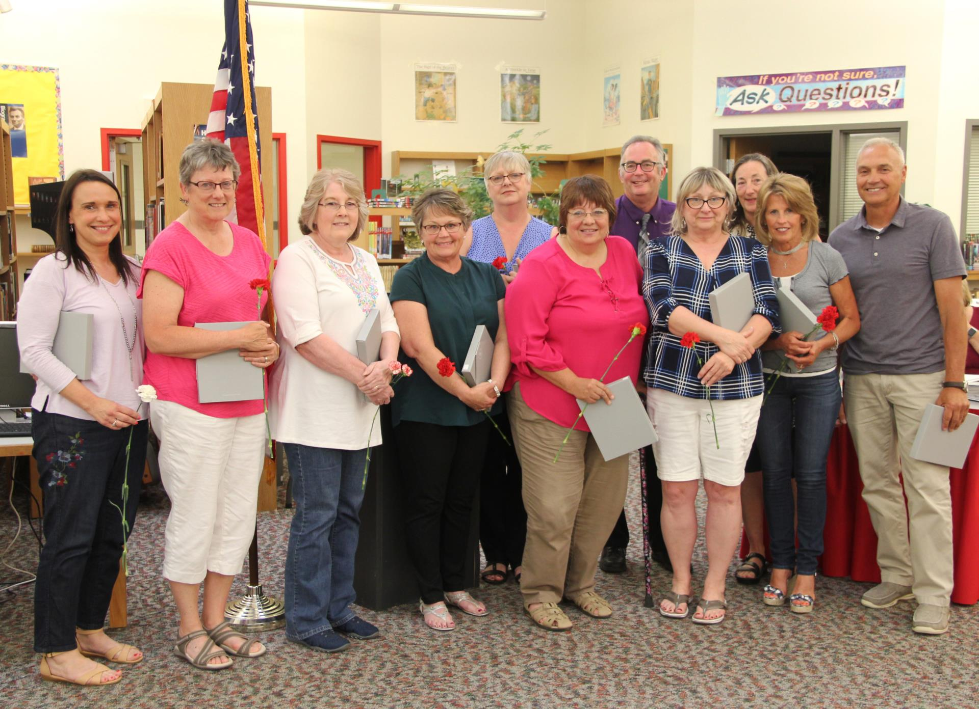 group of retirees