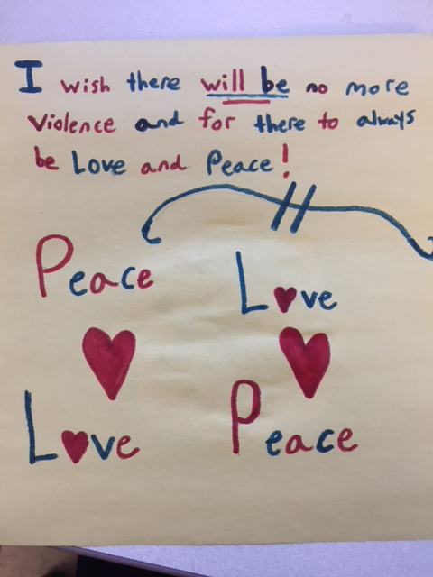 message about peace and love