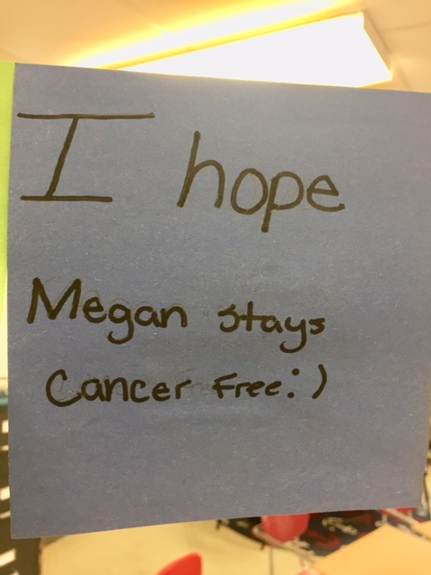 message about person being cancer free