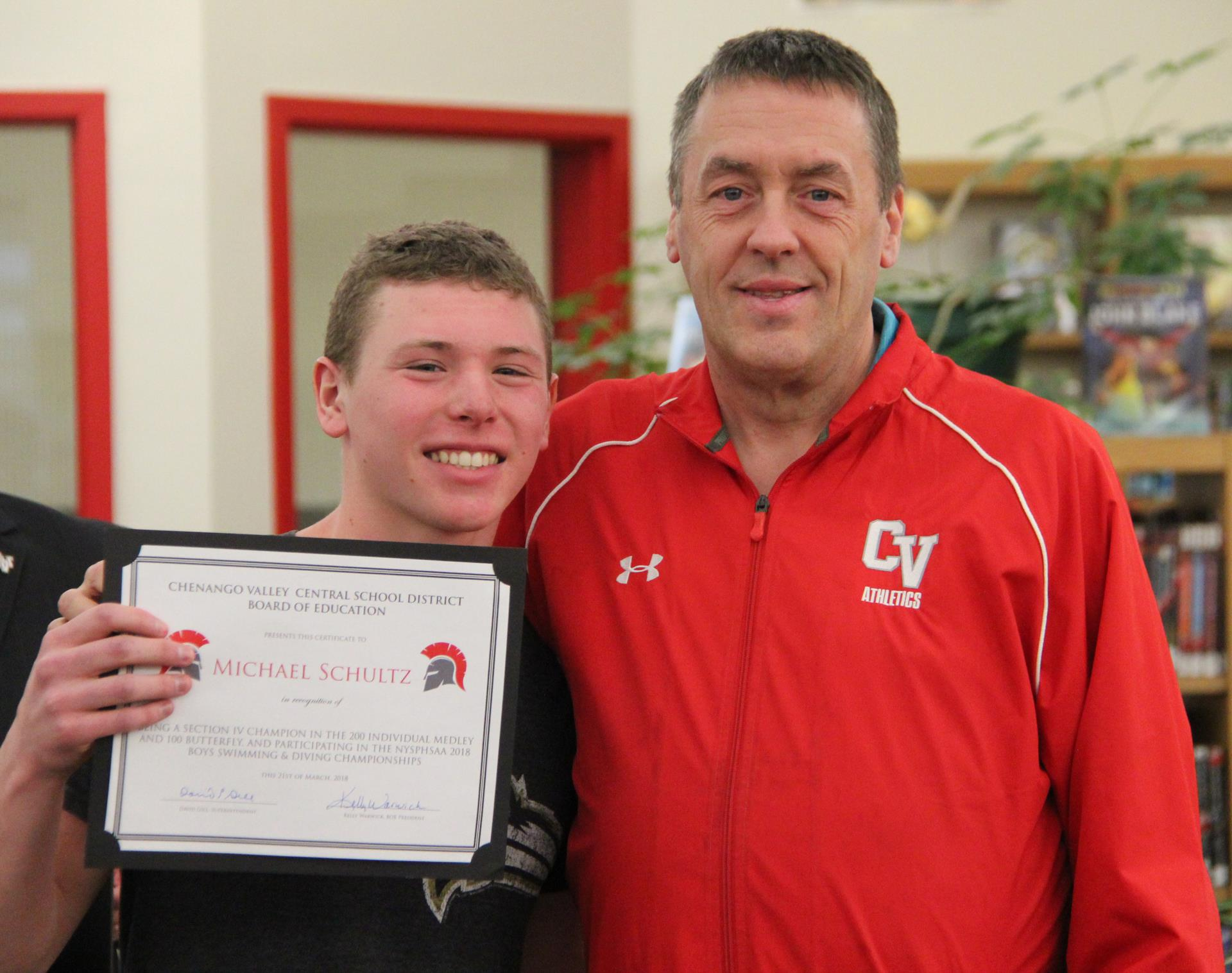 michael schultz and coach frayer