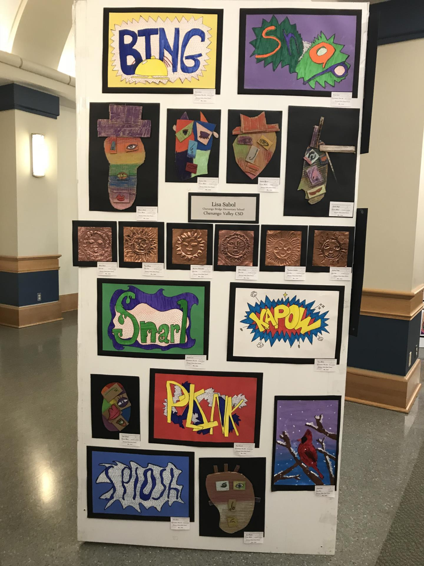 more student artwork in art show