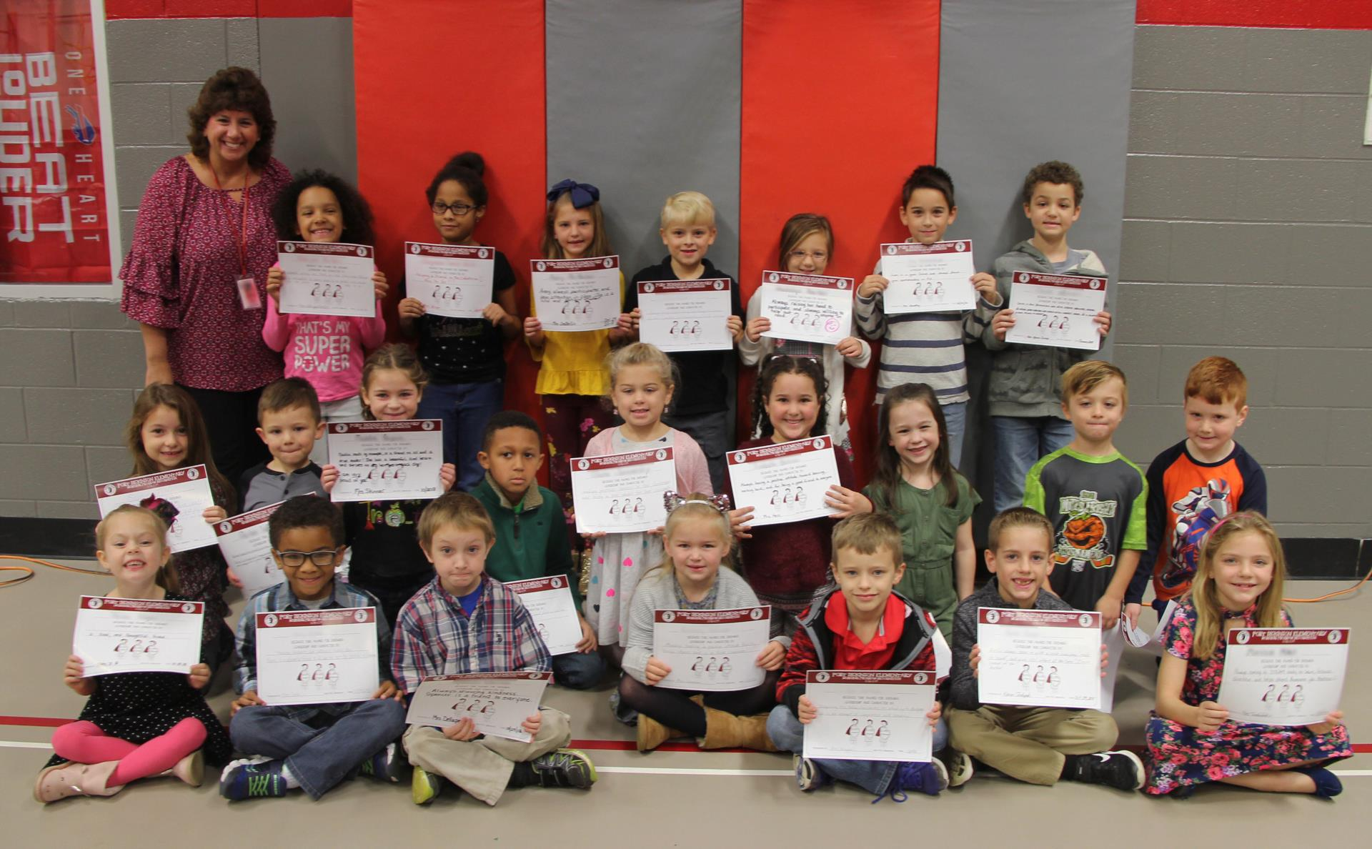morning program recognition october group