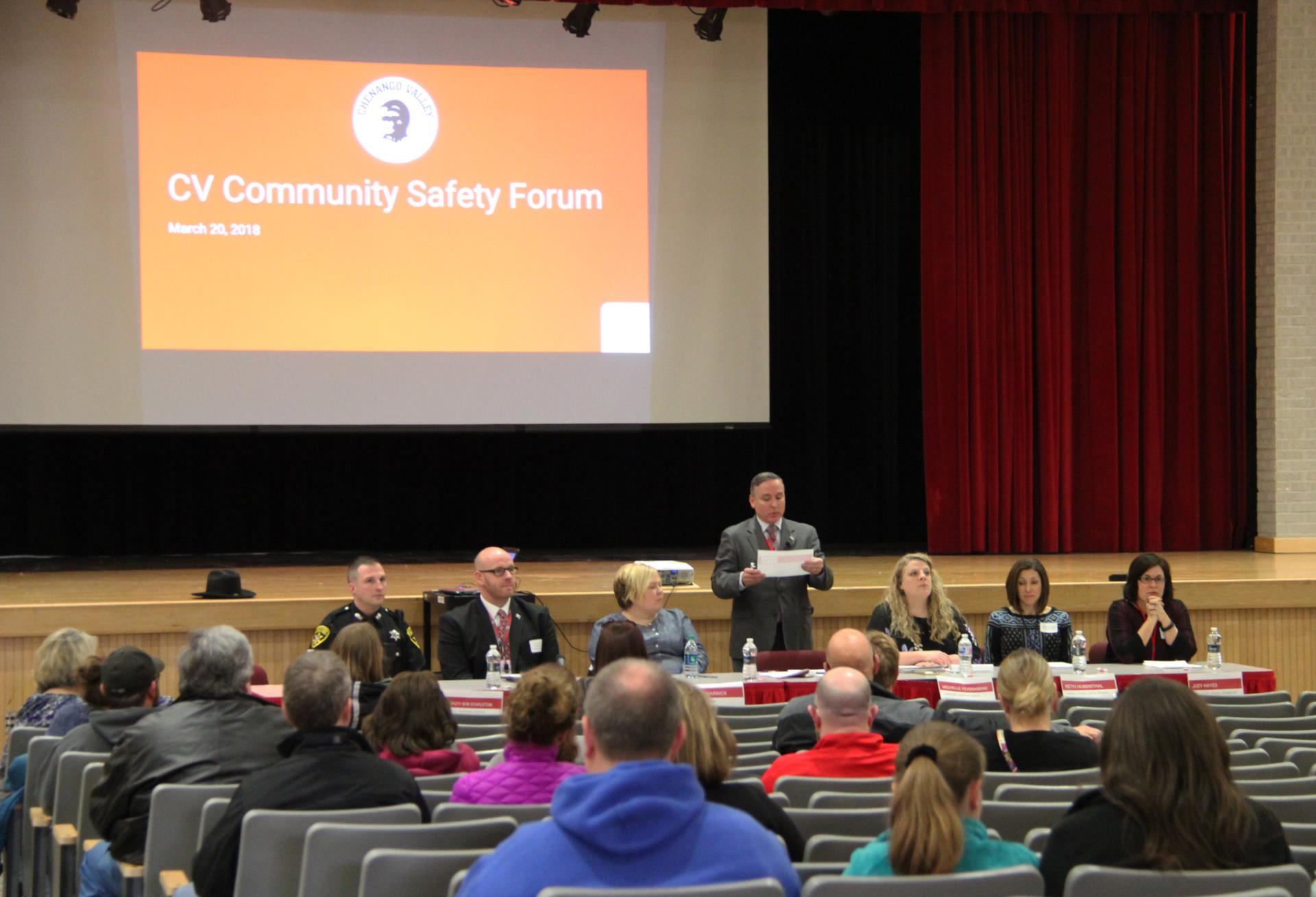 panel presentation at safety meeting