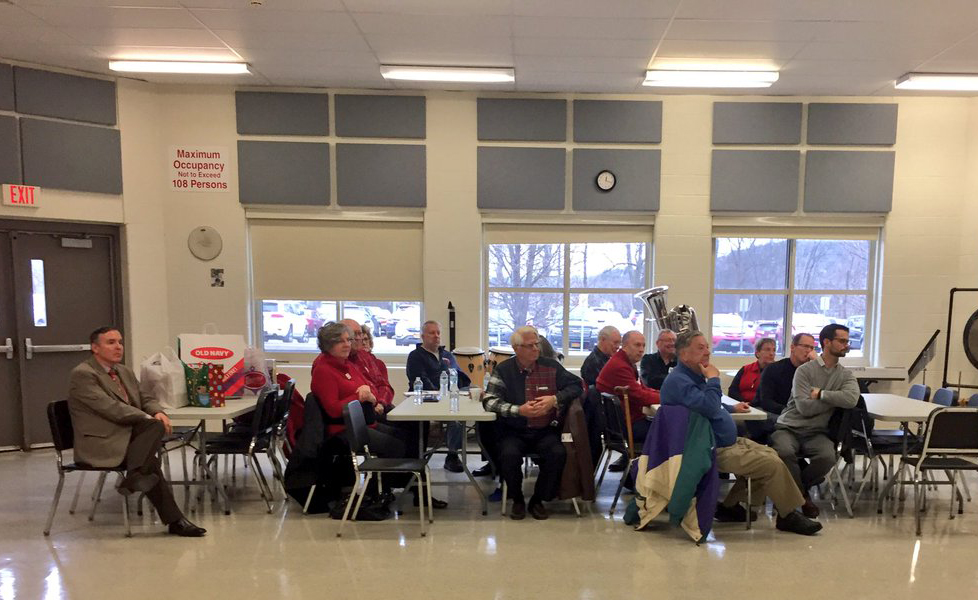 rotary club listening to band
