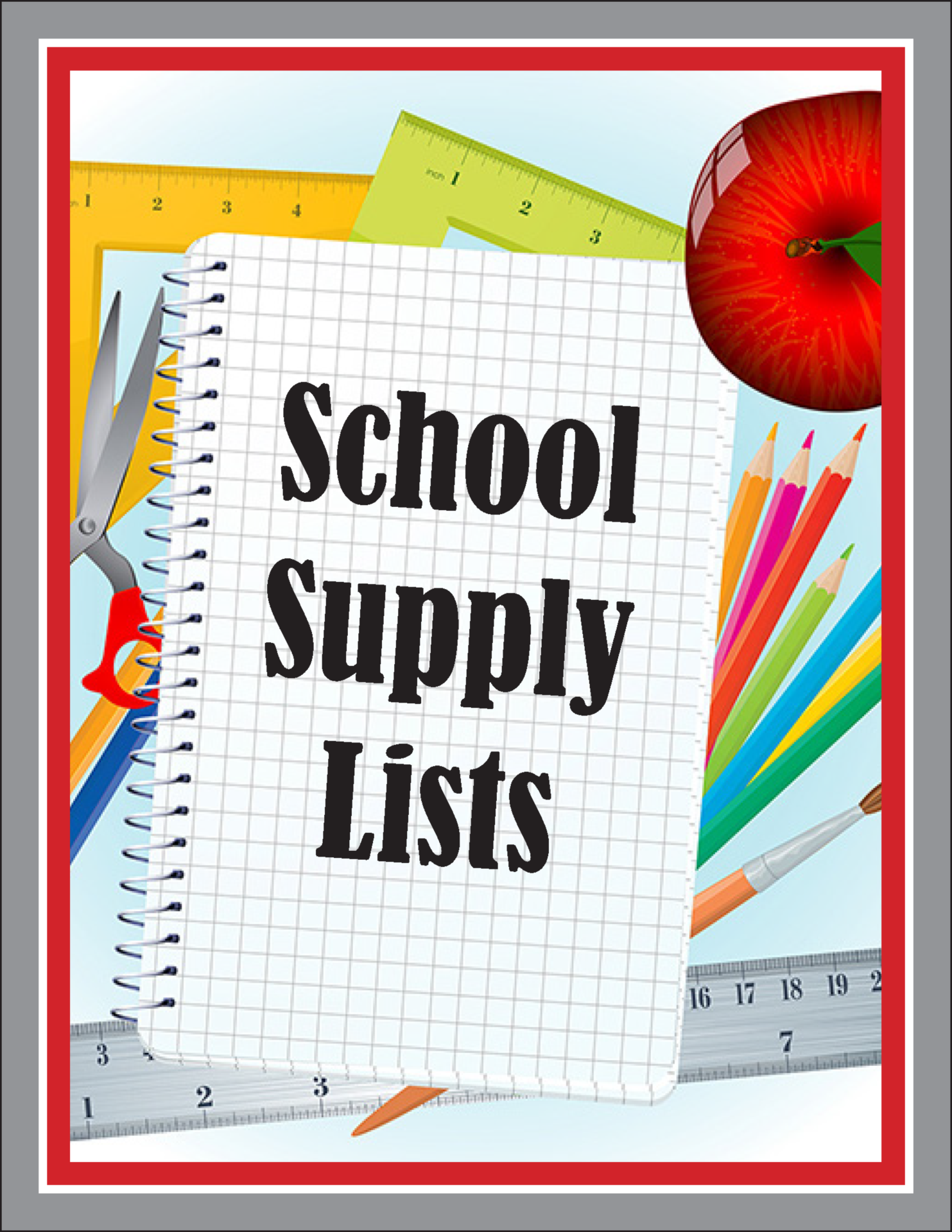 school supply lists graphic