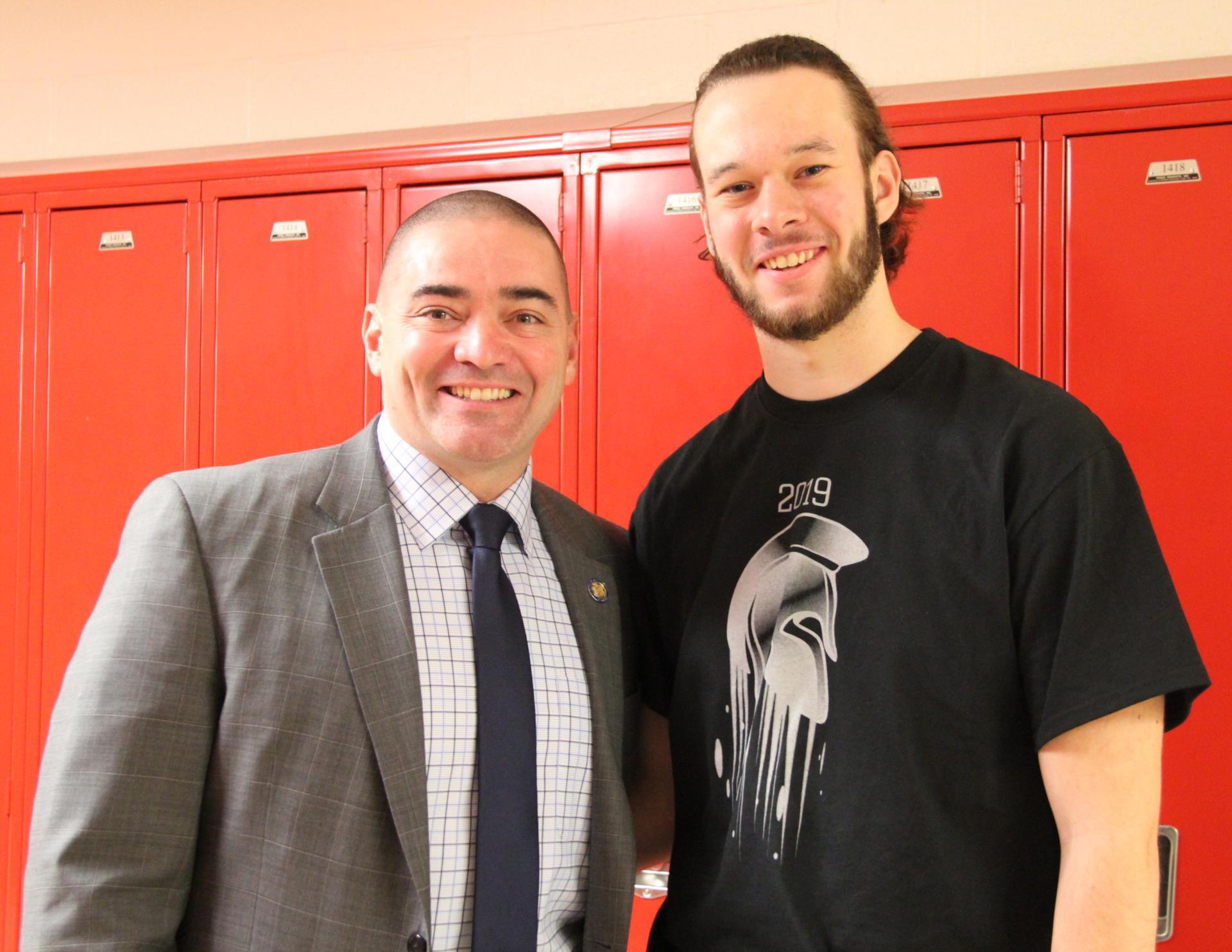 senator and student