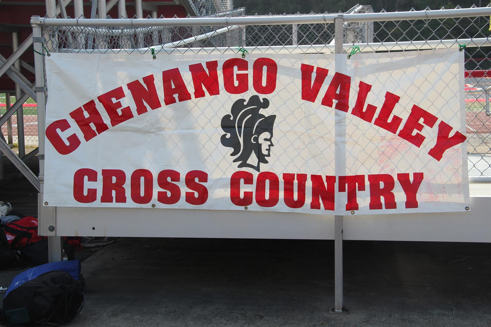 sign that reads chenango valley cross country