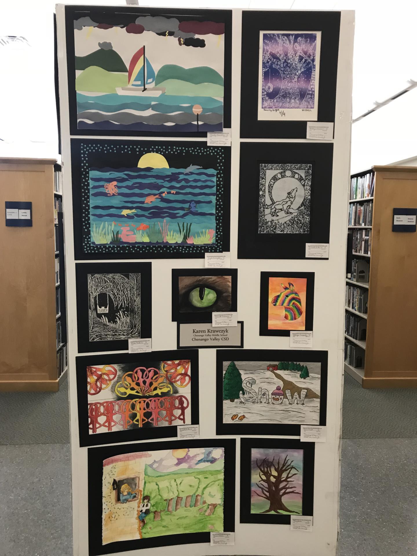 student artwork in art show