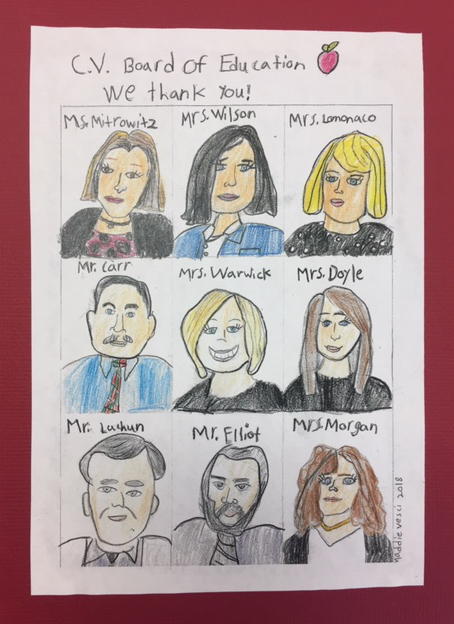 student drawing of board members